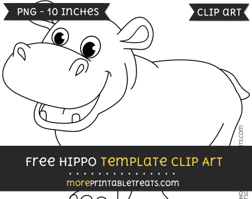 Free Hippo Template - Clipart