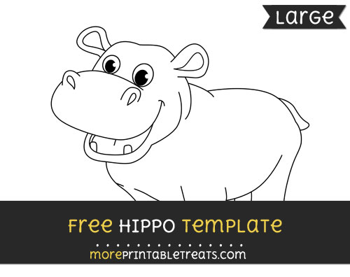 Free Hippo Template - Large