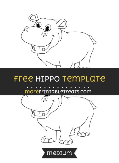 Free Hippo Template - Medium