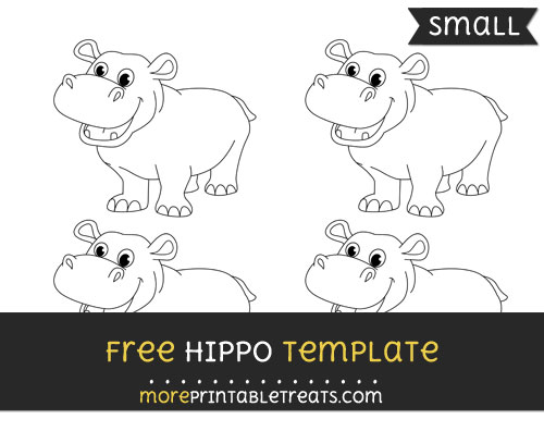 Free Hippo Template - Small