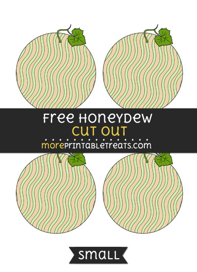 Free Honeydew Cut Out - Small Size Printable