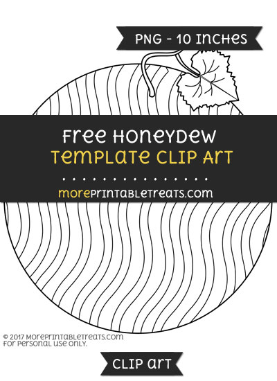 Free Honeydew Template - Clipart