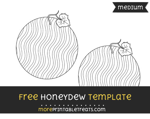 Free Honeydew Template - Medium