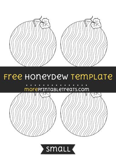 Free Honeydew Template - Small