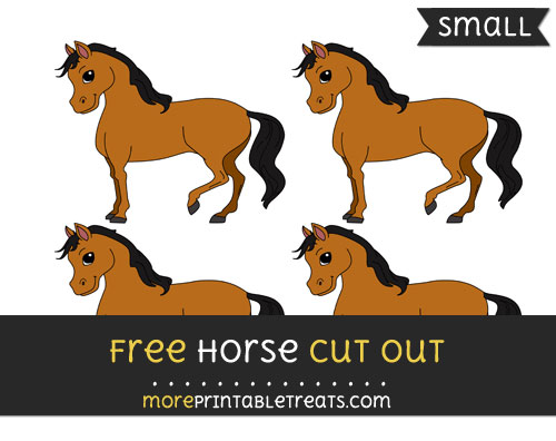 Free Horse Cut Out - Small Size Printable