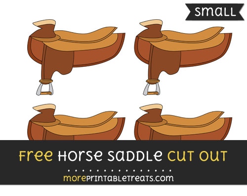 Free Horse Saddle Cut Out - Small Size Printable