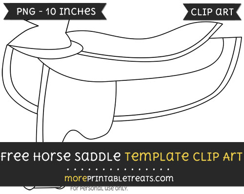 Free Horse Saddle Template - Clipart