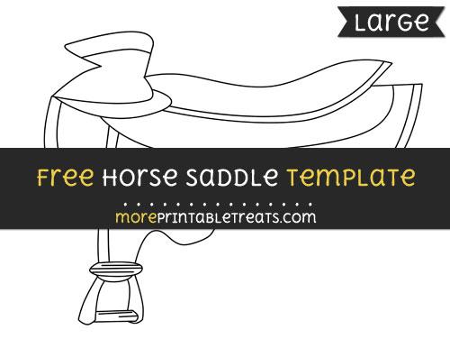 Free Horse Saddle Template - Large