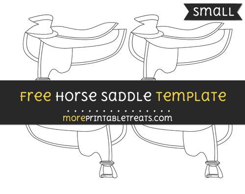 Free Horse Saddle Template - Small