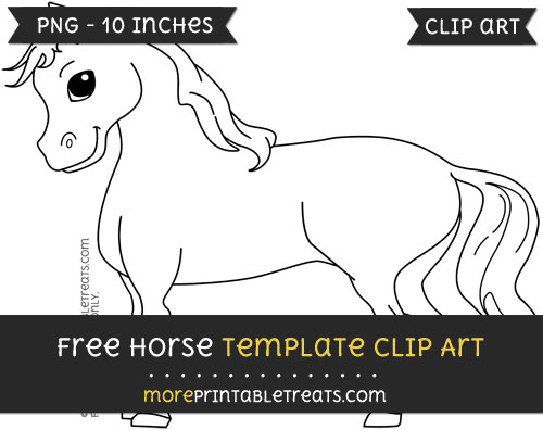 Free Horse Template - Clipart