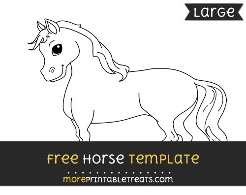 Free Horse Template - Large