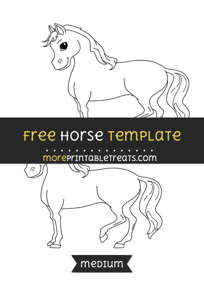 Free Horse Template - Medium