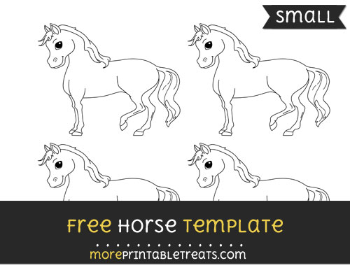 Free Horse Template - Small