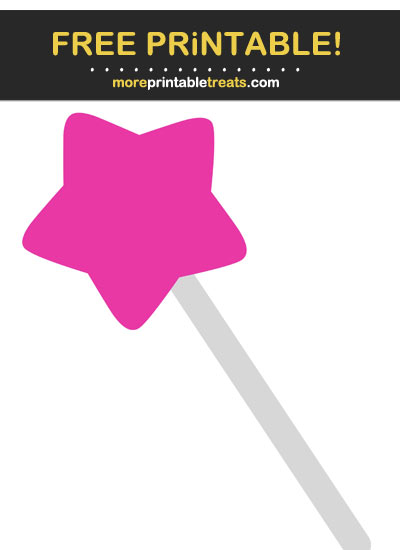 Free Printable Hot Pink Fairy Wand Cut Out