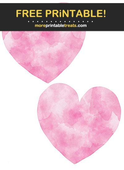 Free Printable Hot Pink Watercolor Hearts