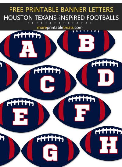 Free Printable Houston Texans-Inspired Football Alphabet