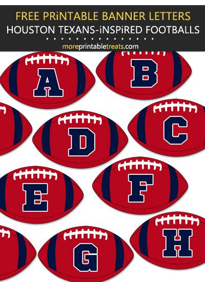 Free Printable Houston Texans-Inspired Football Bunting Banner