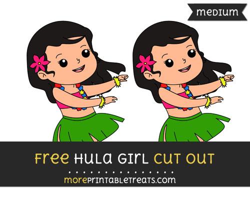 Free Hula Girl Cut Out - Medium Size Printable