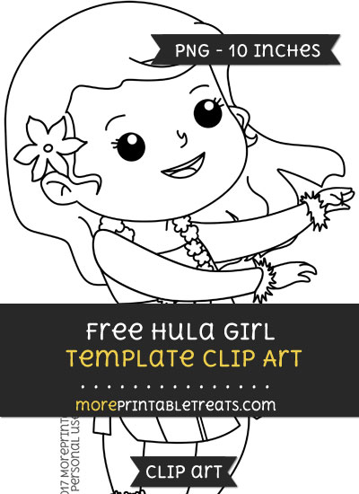 Free Hula Girl Template - Clipart