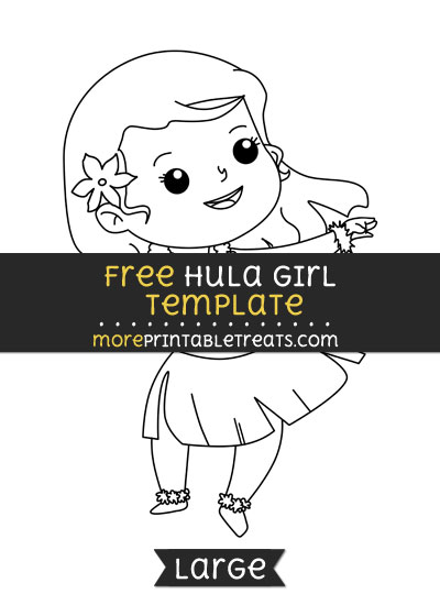 Free Hula Girl Template - Large