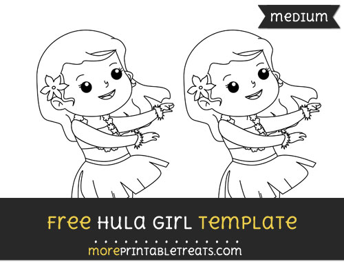 Free Hula Girl Template - Medium