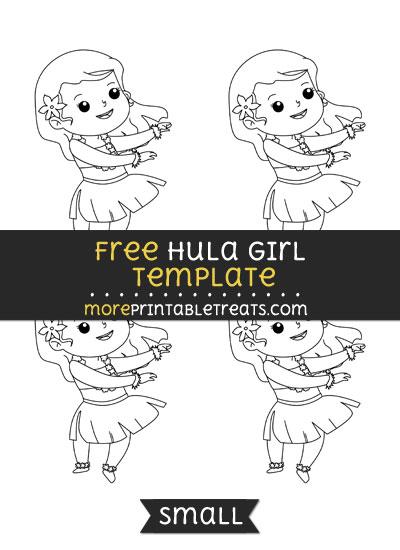 Free Hula Girl Template - Small