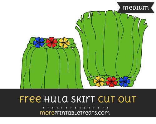 Free Hula Skirt Cut Out - Medium Size Printable