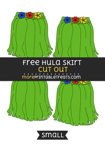 Free Hula Skirt Cut Out - Small Size Printable