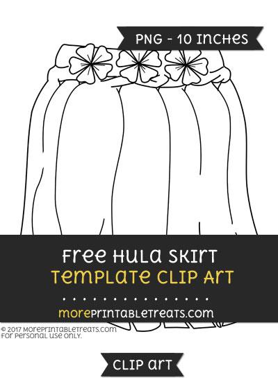 Free Hula Skirt Template - Clipart