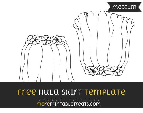 Free Hula Skirt Template - Medium