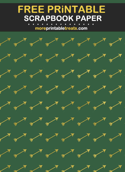 Free Printable Hunter Green and Gold Foil Scrapbook Paper
