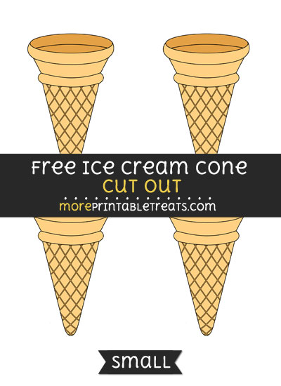 Free Ice Cream Cone Cut Out - Small Size Printable