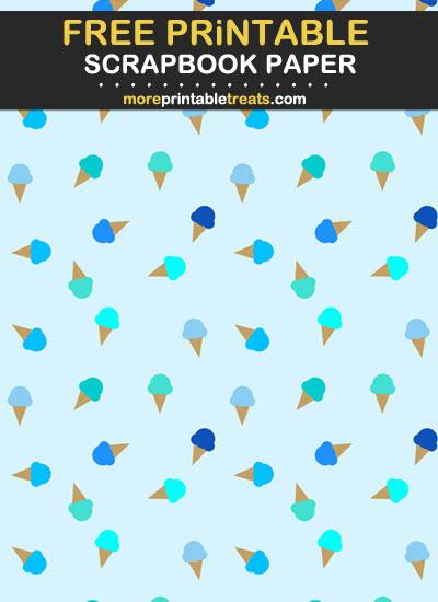Free Printable Ice Cream Cone Scrapbook Paper