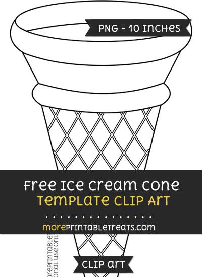 Free Ice Cream Cone Template - Clipart