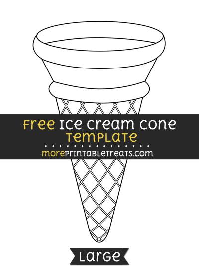 Free Ice Cream Cone Template - Large