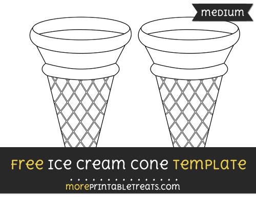 Free Ice Cream Cone Template - Medium