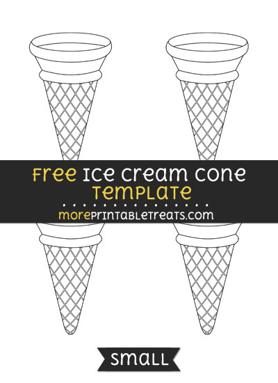 Free Ice Cream Cone Template - Small