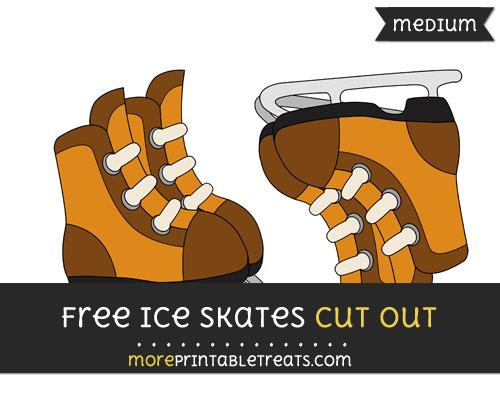 Free Ice Skates Cut Out - Medium Size Printable