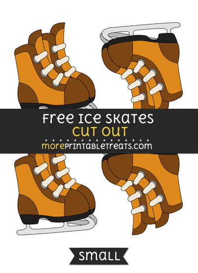 Free Ice Skates Cut Out - Small Size Printable