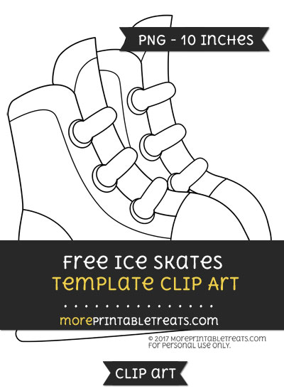 Free Ice Skates Template - Clipart