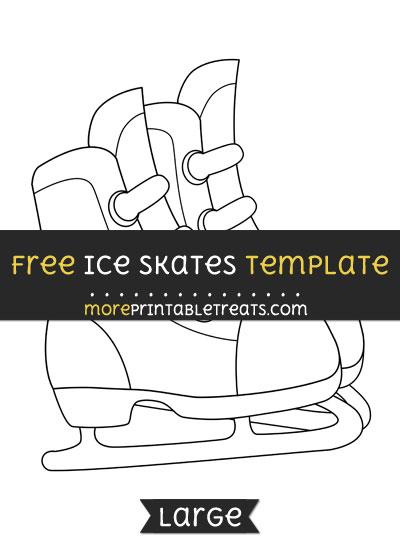 Free Ice Skates Template - Large