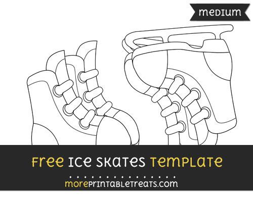 Free Ice Skates Template - Medium