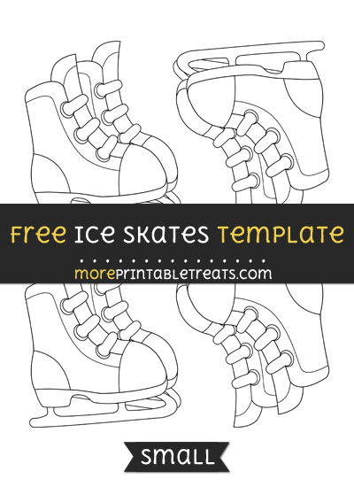 Free Ice Skates Template - Small