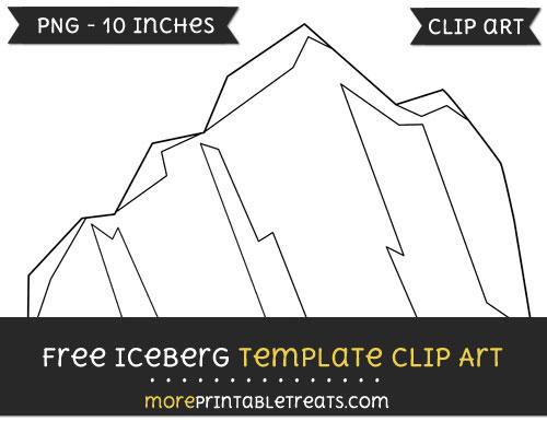Free Iceberg Template - Clipart