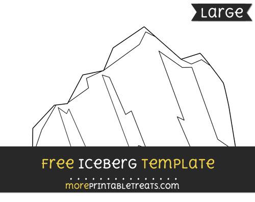 Free Iceberg Template - Large