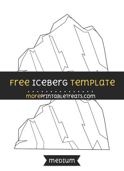 Free Iceberg Template - Medium