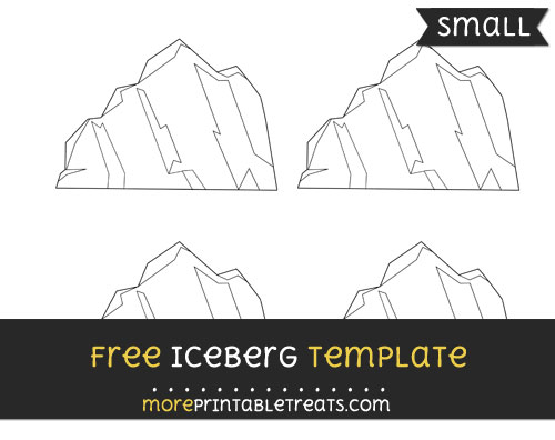 Free Iceberg Template - Small