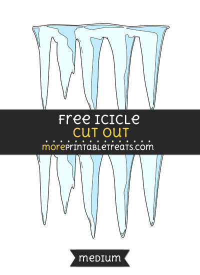 Free Icicle Cut Out - Medium Size Printable
