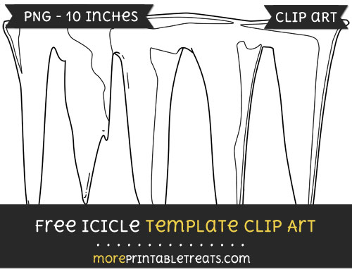 Free Icicle Template - Clipart