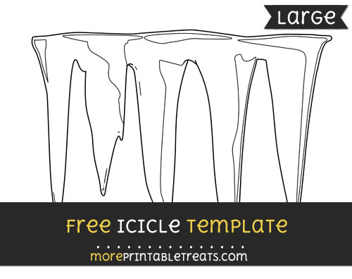 Free Icicle Template - Large